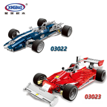 XINGBAO 03022 03023 Genuine The Blue Racing Car The Red Car Set Building Blocks Bricks Compatible With Technic Car стоимость
