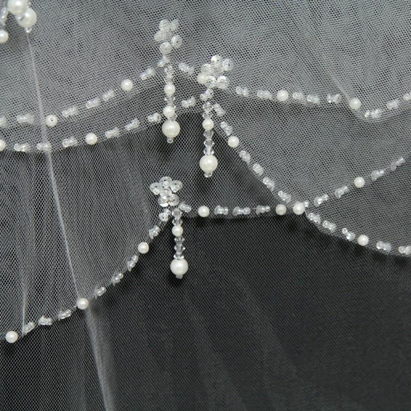 Κοντά Βραδινά Βέρια Τούλι - Αξεσουάρ γάμου - Φωτογραφία 2
