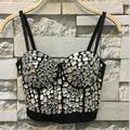 Hand-made Diamonds Pearls Bralet Corselets Women's Bustier Bra Cropped Top Wedding Bralette Vest Plus Size AW515