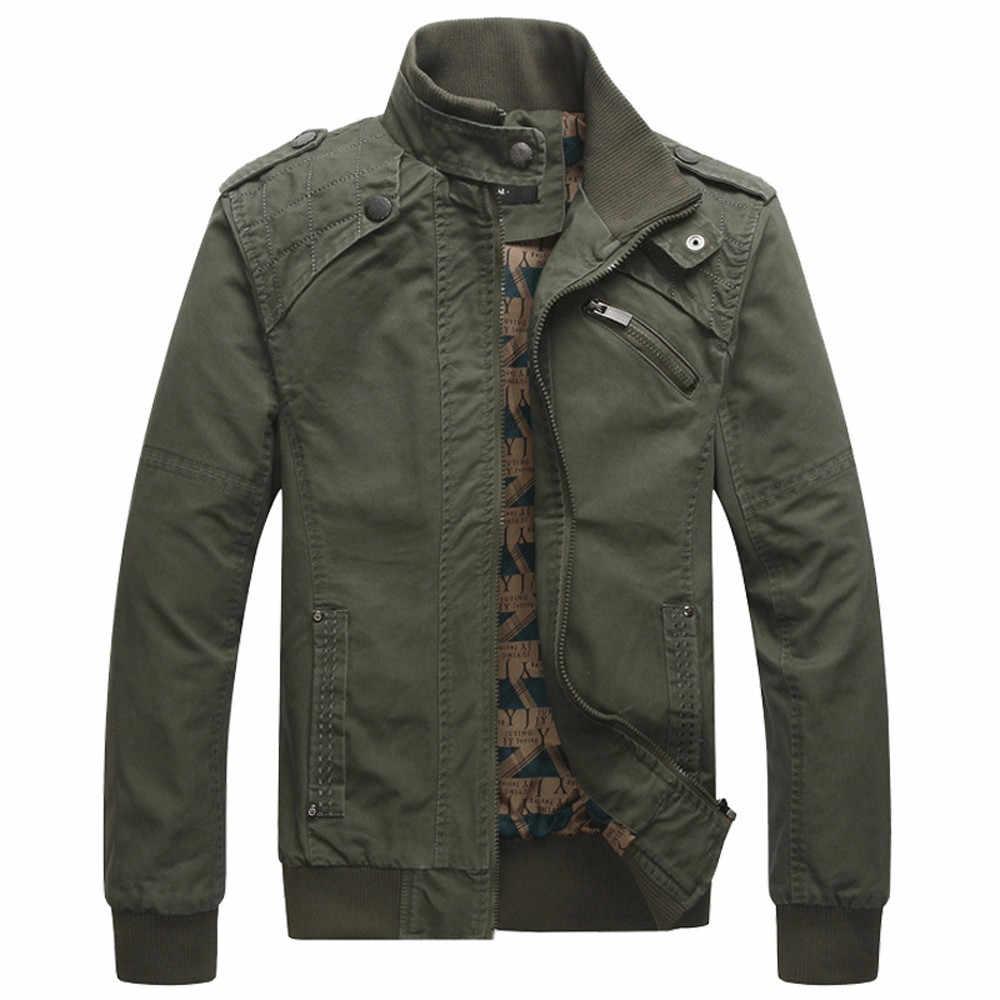 Осенне зимняя куртка мужская одежда Повседневная с карманами строчка тонкий
