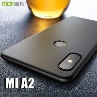 newest 88246 8544f for Xiaomi Mi A2 case cover MOFI mi a2 Hard PC Back Cover Case for xiaomi  mi 6x Full Cover Case miA2 Black case Capa 5.99''