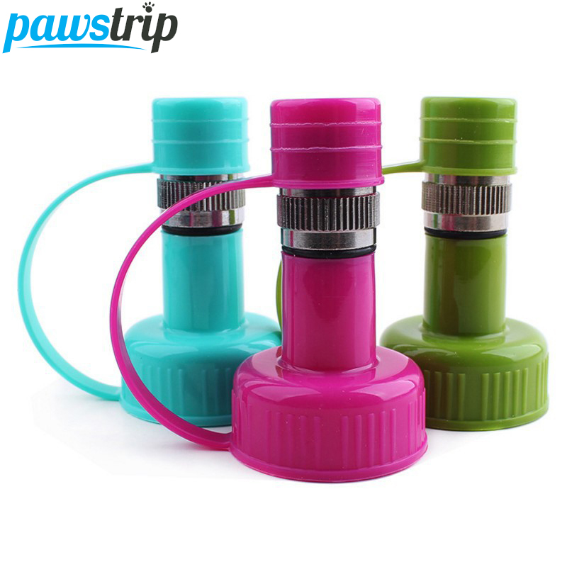 1pc Outdoor Portable Pet Dog Hanging Feeder Dispenser Drinking Feeding Water Bottle Head