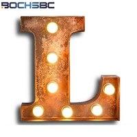 BOCHSBC Art Deco Metal Letra L Lâmpadas para Bar Café Sala de Estar sala De Jantar Sala de Parede Do Sotão Do Vintage Luzes Sconce Lompara de pared|Luminárias de parede| |  -