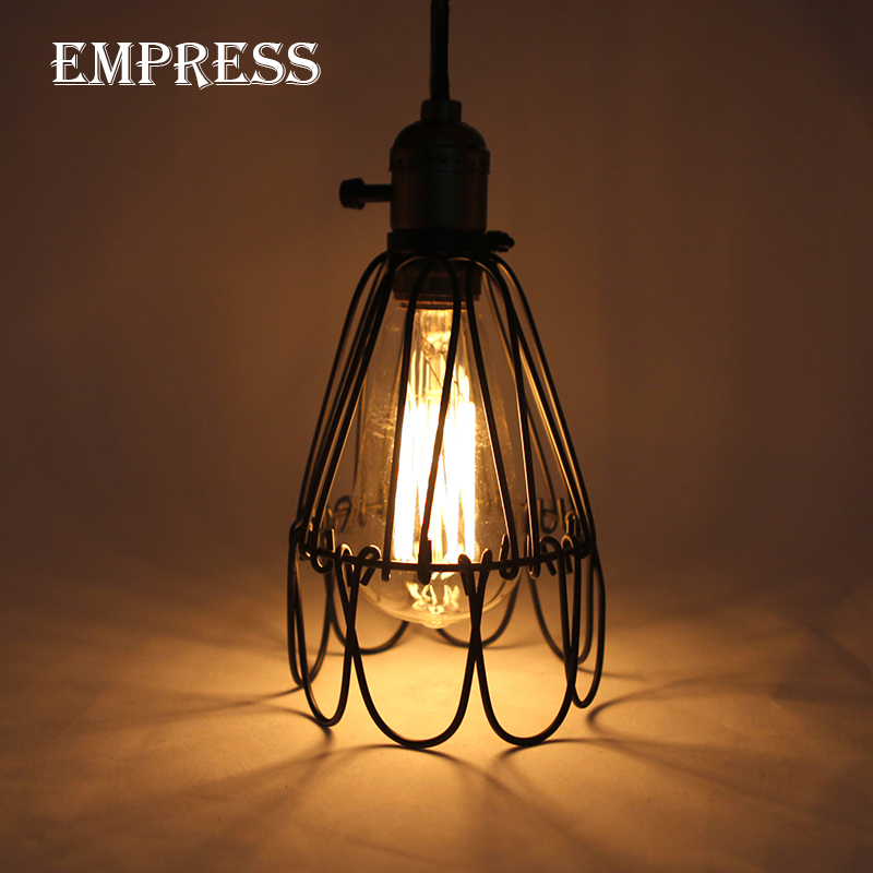 item industrial room loft indoor edison lighting in decor retro from modern dining lampshade vintage cage lights iron pendant lamp shade home