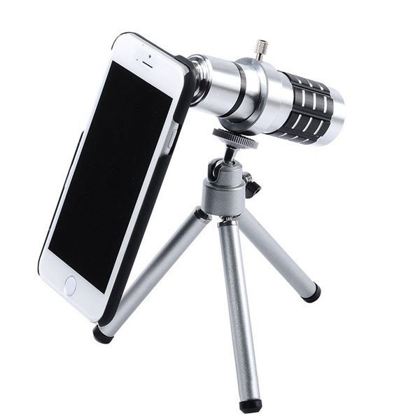 new product 76f48 612e4 US $227.0 |12X Zoom Optical Telescope Camera Lens Kit Tripod Case For  iPhone 6 6Plus 5S 5 4S Samsung S6 s6 edge S5 S4 S3 Note 4 3 2-in Mobile  Phone ...