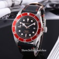 41mm corgeut black dial red bezel miyota Automatic movement diving mens watch