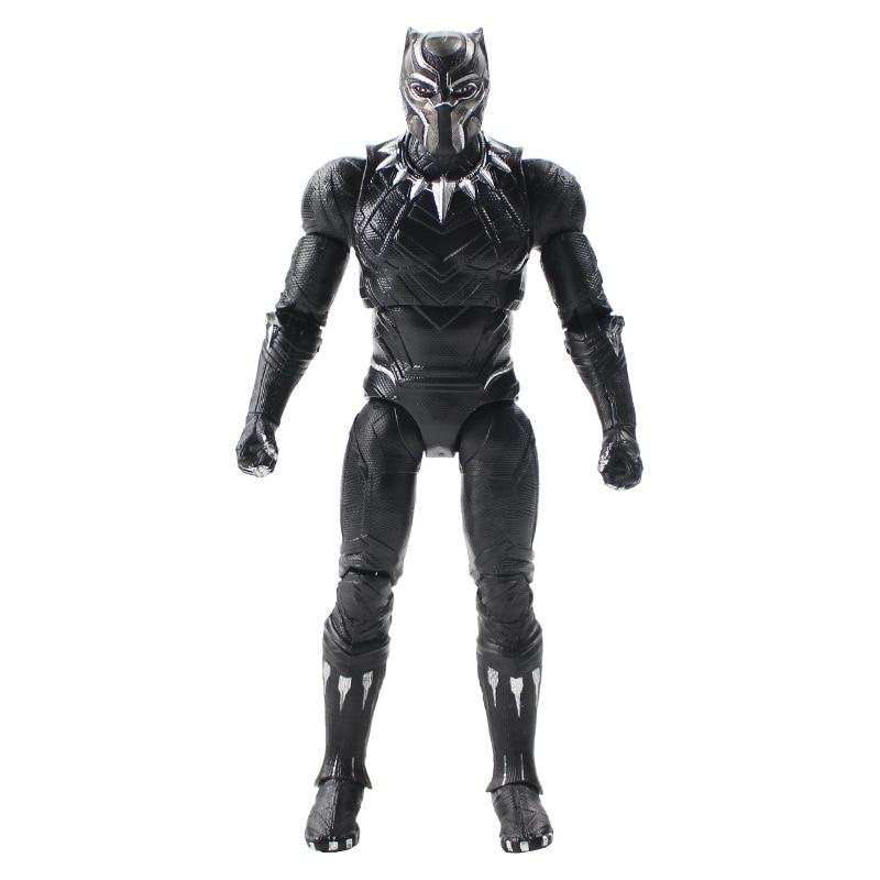17cm Avengers Black Panther Civil War Captain America3 Movable Action Figure Collectible PVC