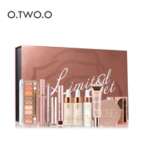 O.TWO.O Black Gold Series Make Up Tool Kit 11 Pieces/Set with Makeup Box Professional Beauty Make Up Set Cosmetics