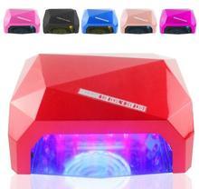 With Sensor LED Nail Lamp Nail Dryer Diamond Shaped 36W LED CCFL Curing Nail for UV Gel Nail Polish Art Tools Dimond Serser
