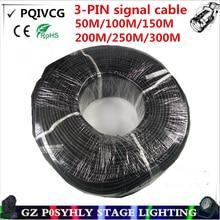 3-контактный DMX сигнальная линия, 50 м/100 м/150 м/200 м/250 м/300 м светодиодный PAR сцены кабель dmx dj оборудование