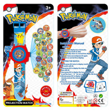 Pokemon Go Pokeball Watch Gotoys Projection Watch Projector 24 Images Cartoon Watches For Children Childs Kids Outdoors 4pcs/lot