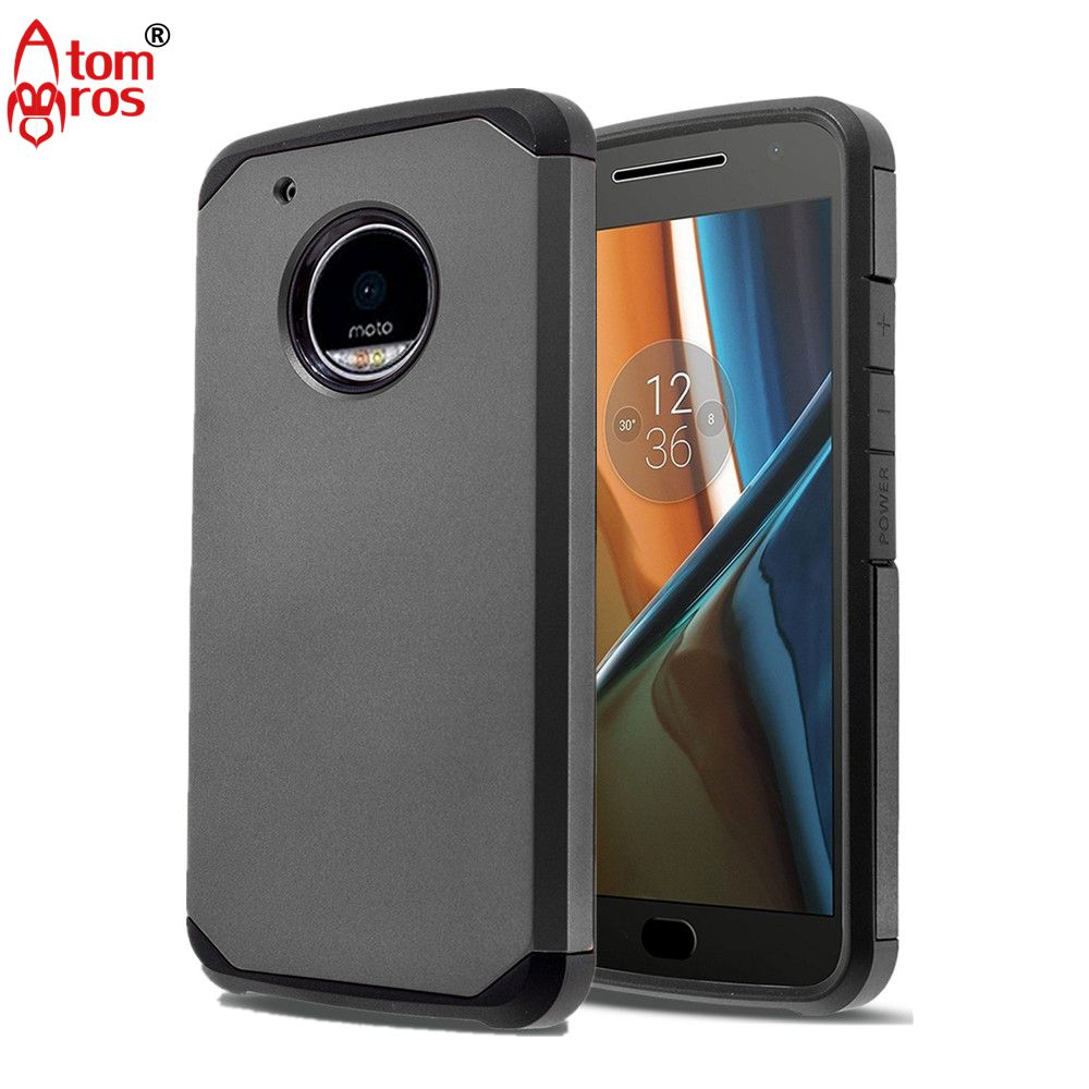 Hybrid Dual Layers Matte Rugged Shockproof Hard Armor Case For Motorola Moto E4 Plus Cover Phone Cases Shell Skin Fundas
