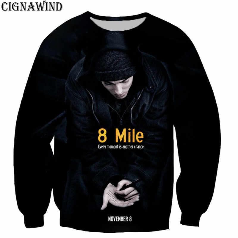 Moda Popular hip hop rapero Eminem Sudadera con capucha de los hombres mujeres  3D impreso c7db46e2501