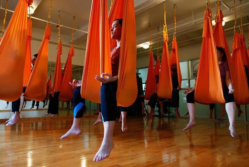yoga hammock swing yoga belts yoga swing stretching strap(28)
