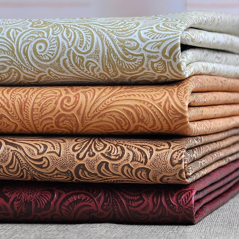100x135cm Printed Leatherette Fabric Upholstery Fabric Sofa ...