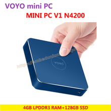 VOYO VMac Mini PC Intel Apollo N4200 License Windows 10 Pocket PC 4GB DDR3L RAM+128GB SSD 3*USB3.0 4K HD output