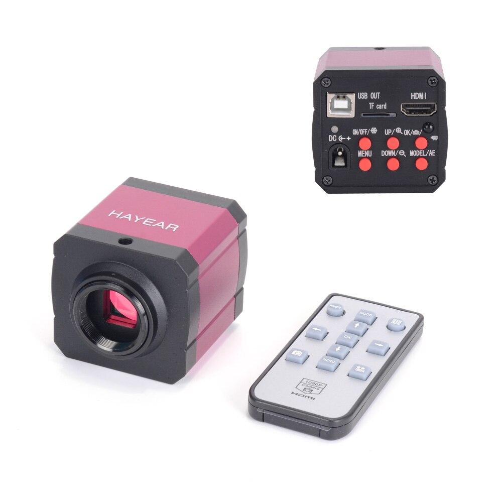14MP 1080 P 3 dans 1 TV HDMI usb L'industrie Numérique C-montage Microscope Caméra TF Carte Sortie pour PCB LCD Laboratoire pour téléphone portable réparation