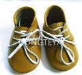 100% hecho a mano de Bebé de Cuero Genuino oxford zapatos de interior zapatos antideslizantes Del Niño Del Bebé mocasines con cordones de Zapatos de los bebés