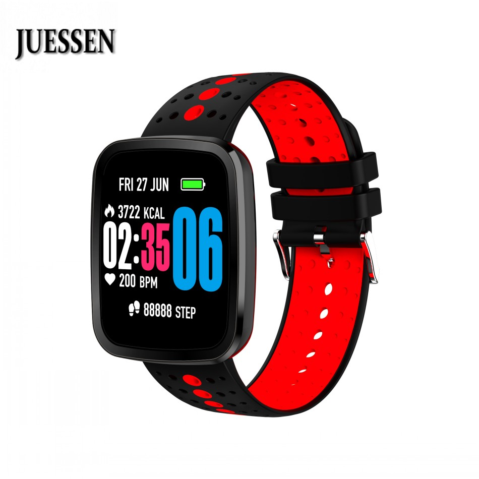 JUESSEN V6S Waterproof Smart Band Support Heart Rate Blood pressure Oxygen monitor Weather forecast Fitness Upgrade