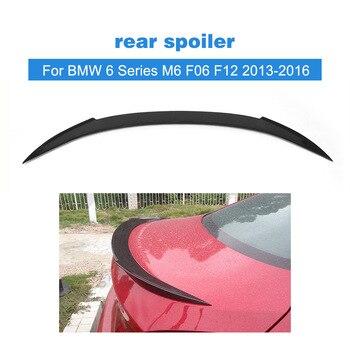 Dla BMW serii 6 M6 F06 F12 640i 650i 640i Sedan tylny Spoiler bagażnika bagażnika wargi skrzydło 2012-2016 z włókna węglowego/FRP