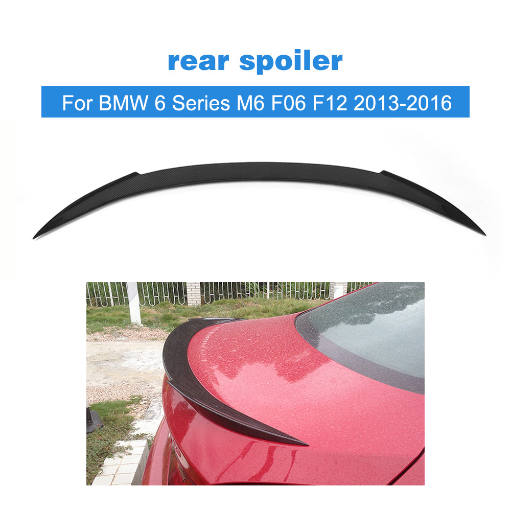 Untuk BMW 6 Series M6 F06 F12 640i 650i 640i Sedan Rear Trunk Spoiler Boot Lip Wing 2012 - 2016 Carbon Fiber / FRP