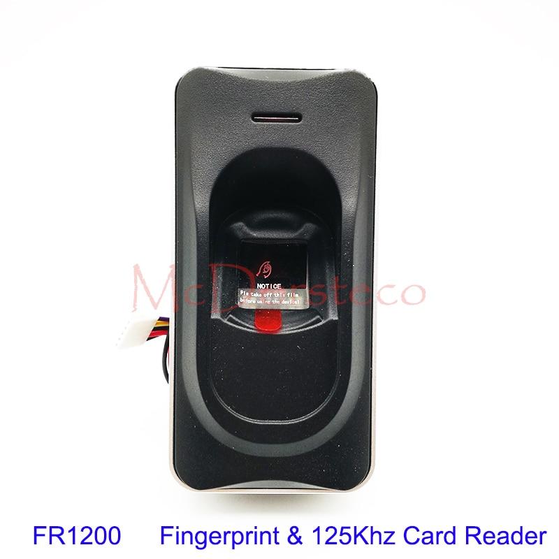 RS485 Fingerprint Reader For Access Control System Inbio460 Access Control Panel F18 ZK FR1200 Fingerprint & RFID Card Reader new arrived zk fr1500 wp rs485 biometric fingerprint reader ip65 waterproof 13 56mhz ic card reader for access control system