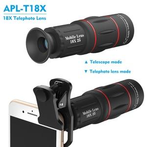 Image 2 - APEXEL 18X soczewka powiększająca duża odległość obiektyw telefonu komórkowego do smartfona uniwersalny iPhone Xiaomi Redmi Samsung Telefon obiektyw aparatu