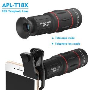 Image 2 - Apexel 18x 줌 렌즈 스마트 폰용 원거리 휴대 전화 렌즈 범용 iphone xiaomi redmi samsung telefon 카메라 렌즈