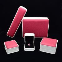 Tham Gia bán buôn top grade leather Box Nhẫn Trang Sức Display Lưu Trữ Có Thể Gập Lại Trường Hợp Cho Đám Cưới Nhẫn Valentine Món Quà Ngày