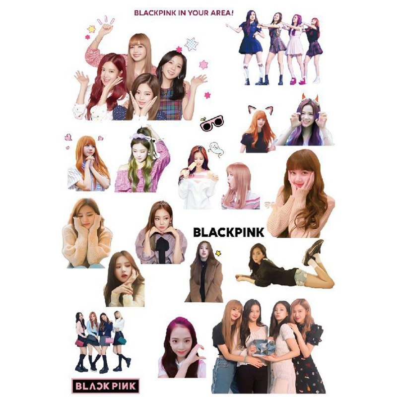 Genteel 2019 New 20-30 Pcs Kpop Blackpink Decal Stickers Jisoo Jennie Rose Lisa Fansmade Stationery Stickers