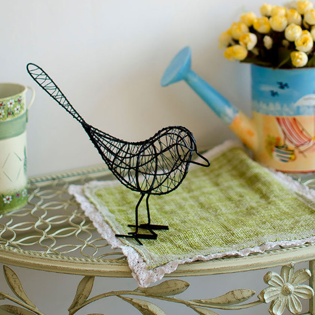 Metal Iron Wire Bird Hollow Model Artificial Craft Fashionable Home Furnishing Table Desk Ornaments Decoration Gift Drop Shiping 5
