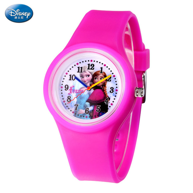 High Quality Brand Disney New Fashion Casual Silicone Watches with Japan Quartz Unisex WristWatches for Men Women Children Gift