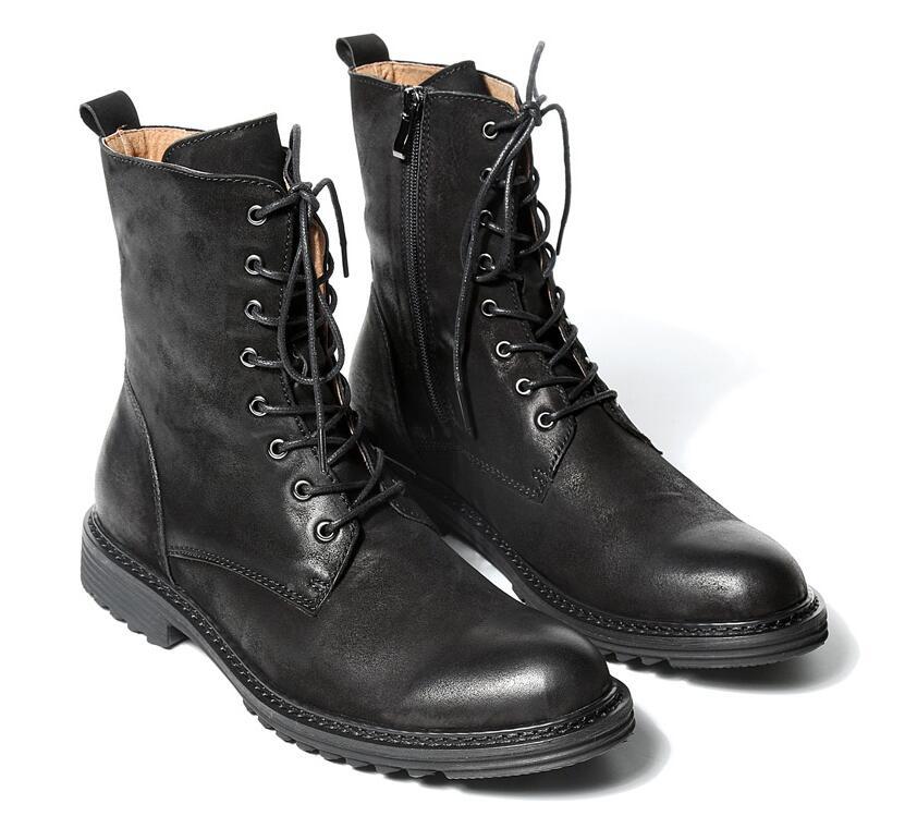 Couro Pic as Estilo Masculinas Martin Moda Redondos Sapatos Frete Homens Dos Grátis Inglaterra Pic Botas Genuína De Inverno Pés As pw1Hp8q