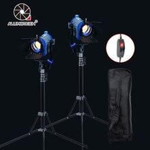 ALUMOTECH Dimmer Embutido Como Arri Fresnel Tungstênio 150WX2 + StandX2 + Saco de Iluminação da Fotografia