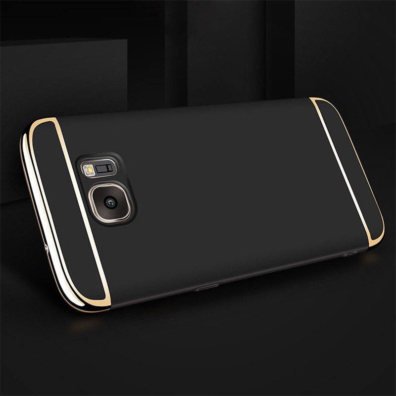 Luxury Gold Red Removable 3 in 1 Hard Plastic Case For Samsung S6 G9200 case PC Plating Matte Cover For Samsung Galaxy S6 case