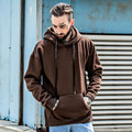 2017 Autumn Fashion Men Hoodies Brown/Black High Quality Men Sweatshirts Hoodie With Fleece Casual Hip Hop Hooded Clothes Male