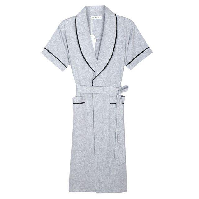 2017 de Primavera y Verano de Los Hombres 100% de Punto de Algodón Hombre Bata Yukata Albornoz Informal Salón de la ropa de Los Hombres Ropa de Casa 122604