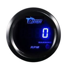 2 inch 52mm Car Tachometer Blue Digital LED Electronic 0-9999 RPM Automobile Tacho Meter Gauge 2 inches Auto instrument DC 12V
