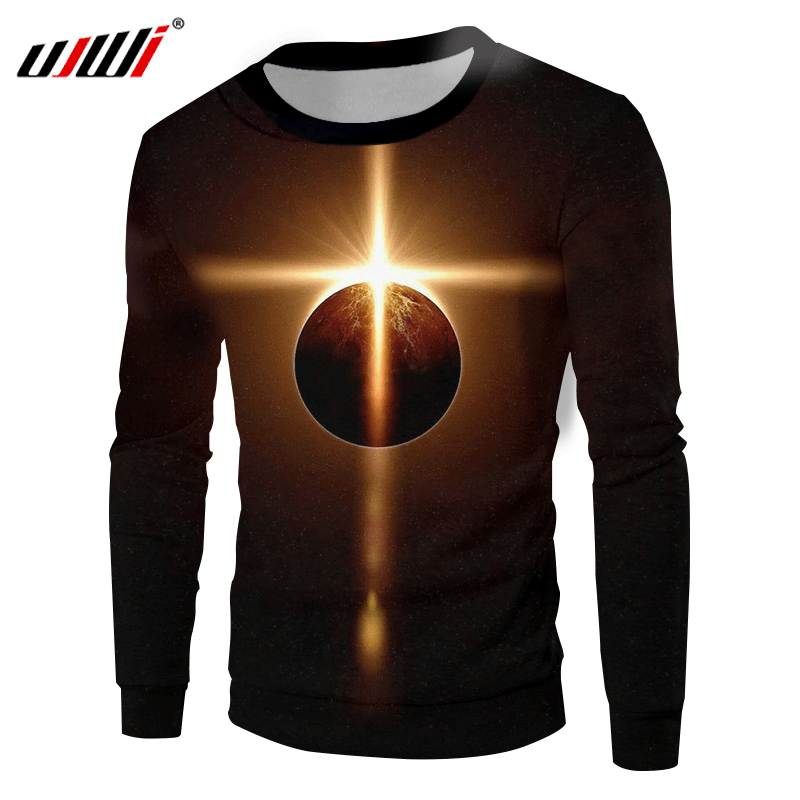 UJWI Black Sweatshirts Men 2018 Spring Fall 3d Print Galaxy Space Hoodies Sweatshirt Oversize <font><b>6XL</b></font> <font><b>Hombre</b></font> Hip Hop Pullovers Coats image