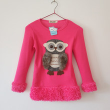 Autumn 2018 Fashion Owl Sweaters Winter Teenage Girls Sweaters Monsoon Kids Tops Children Christmas Clothing Girls Warm Clothes(China)