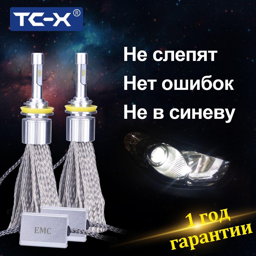 TC-X H7 Faible Faisceau H1 Lumière Principale H11 LED Lampe Luxeon ZES H3 Haut/bas Faisceau 9005 9006 D2S d4S 6000 k Blanc Phare De Voiture Ampoule LED12V
