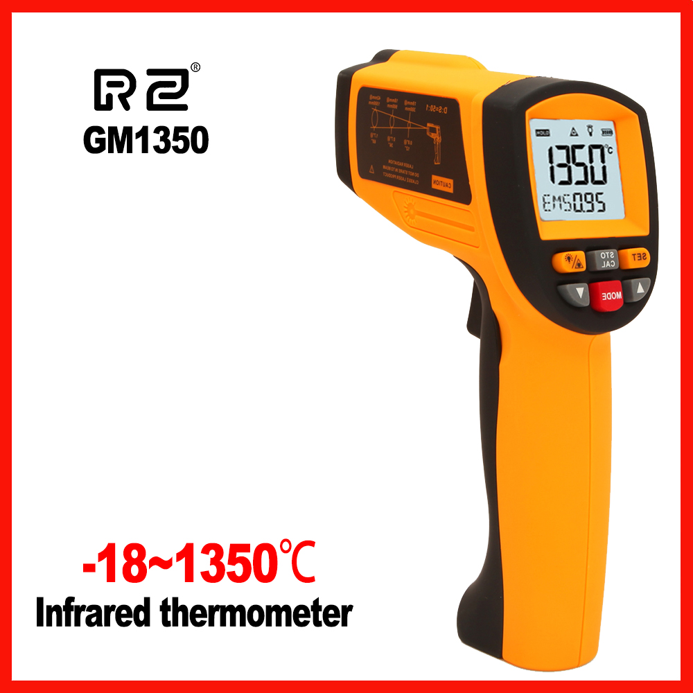 Non-Contact High precision LCD display IR Infrared Digital Handheld Temperature Gun Thermometer RZ GM1350 цена