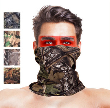 Camouflage Leaves Seamless Tubular Magic Bandanas Tube Ring Scarf Climbing Bicycle Multi Functional Bandana Headband - discount item  18% OFF Scarves & Wraps