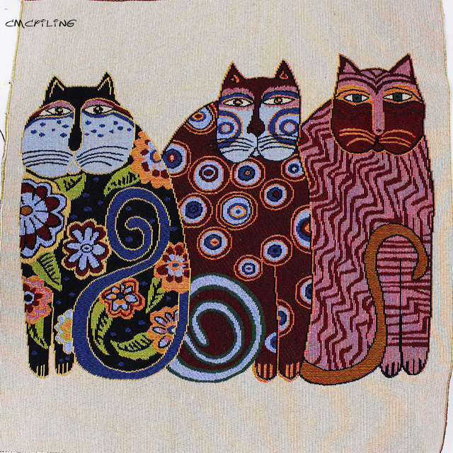 2pcs Lovely Lucky Cat Pattern Polyester Cotton Fabric Cloth Sewing Tilda Jacquard Fabrics Tissue Home Textile Woven Telas Tecido