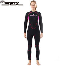 SLINX 3mm Neoprene Women Scuba Diving Suit Kite Surfing Snorkeling Spear Fishing Boating Windsurfing Swimwear Wetsuit цена и фото