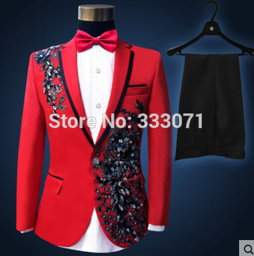 638a6f40a8a43 2017 Latest Coat Pant Designs Red Prom Men Suits Pattern Costume ...