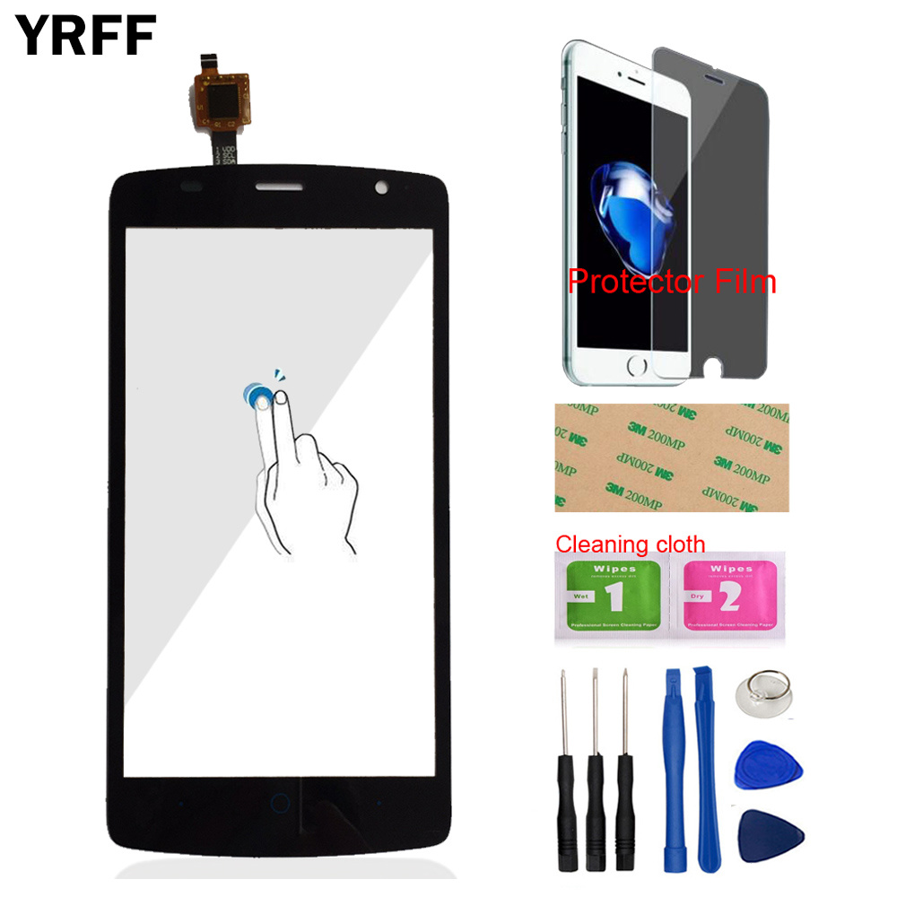 5.0'' Mobile Touch Screen Touch Digitizer Panel For ZTE Blade L5 Plus Sensor Touch Screen Front Glass Tools Free Protector Film(China)