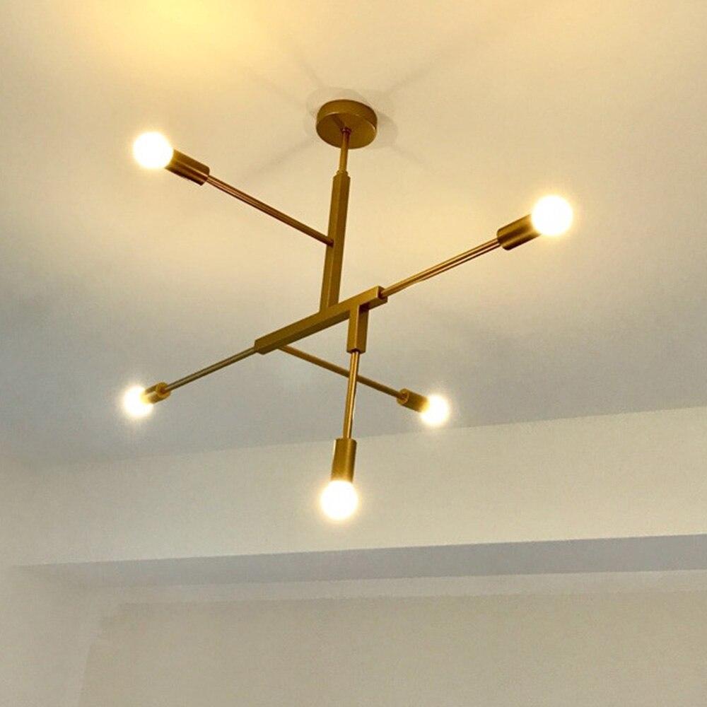 Nordic Modern Gold LED Pendant Lights bedroom dinning room kitchen hanglampen voor eetkamer E27 LED Lamp Edison Light Bulb in Pendant Lights from Lights Lighting