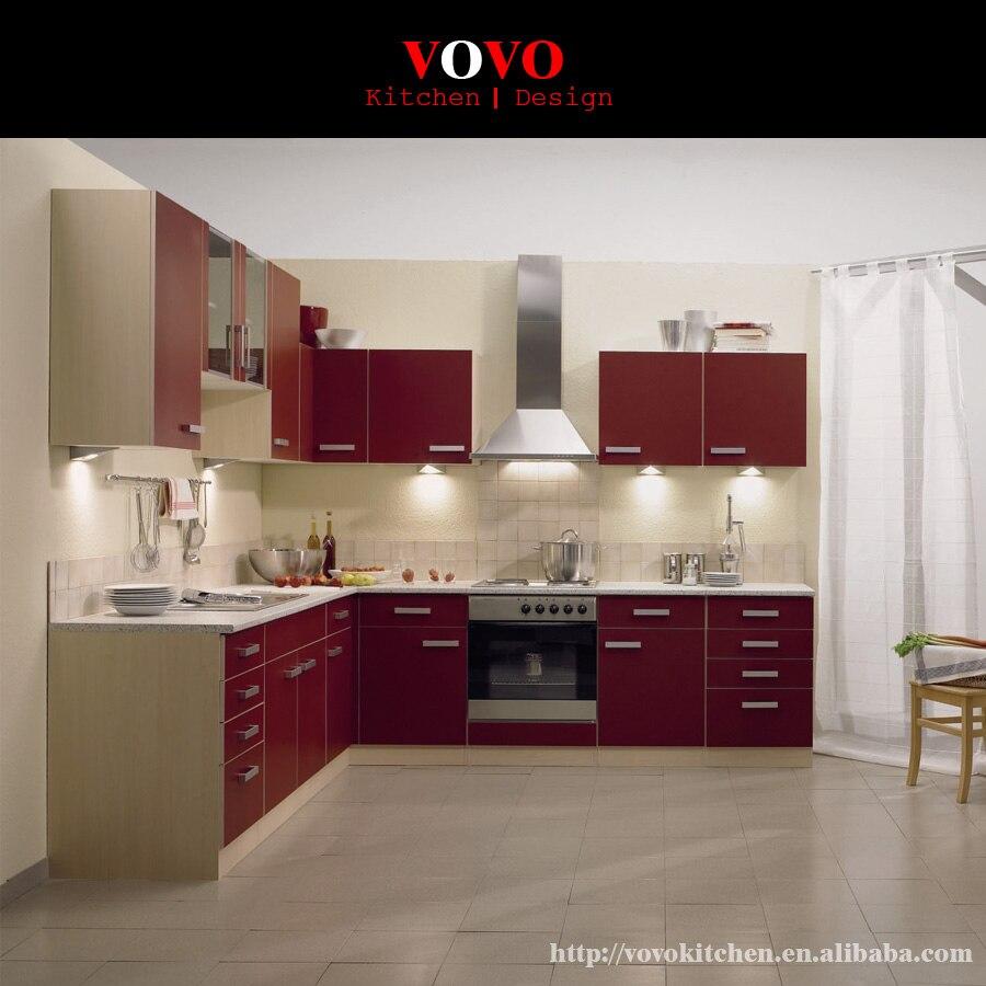 Küchenschrank Rot Hochglanz: Kchenzeile