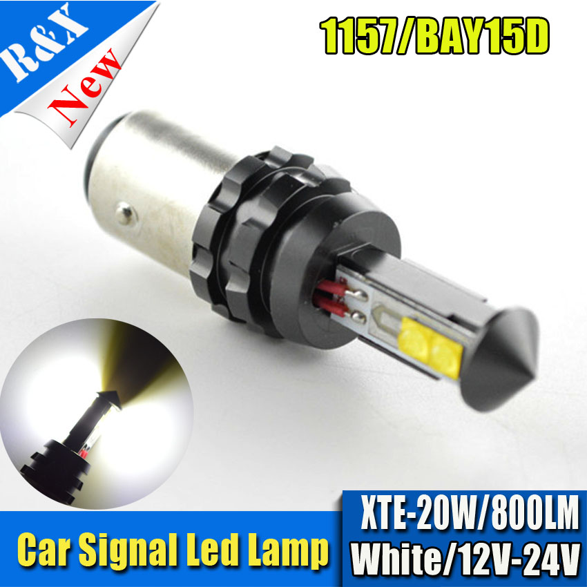 2x S25 1157 Bay15D Chip XBD 20W CANBUS LED Bulb P21/5W Car Reverse Backup Brake Light Turn Parking Signal Light White/Red/Amber ruiandsion 2x75w 900lm 15smd xbd chips red error free 1156 ba15s p21w led backup revers light canbus 12 24vdc